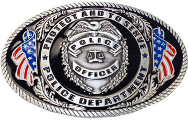 Boucle de ceinture US Police -Protect and serve - AMERICAN DREAMS DECO 8caf4c795bb