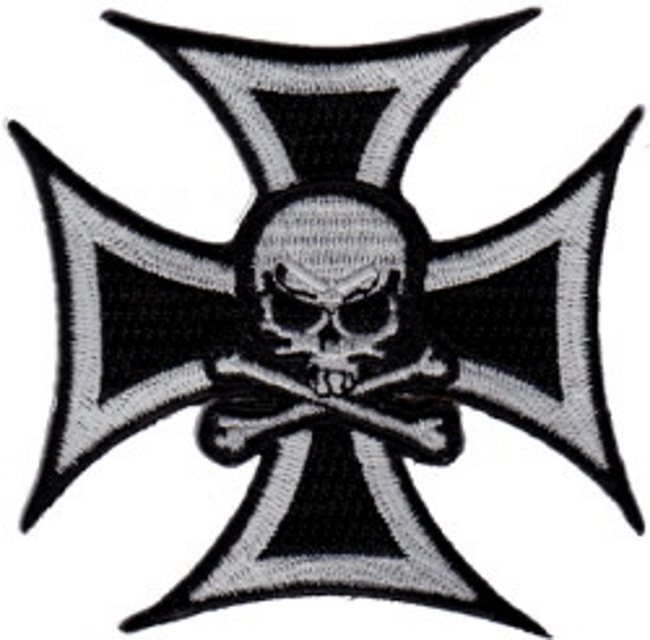patch cusson croix de malte biker skull american dreams deco. Black Bedroom Furniture Sets. Home Design Ideas
