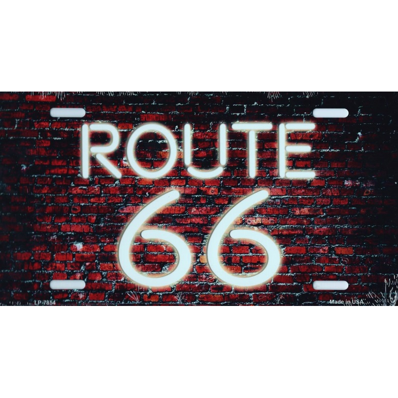 plaque d corative route 66 american dreams deco. Black Bedroom Furniture Sets. Home Design Ideas